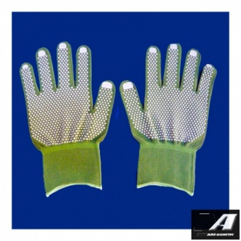 grey_nylon_top_coating_fit_gloves_with_dots_on_both_sides